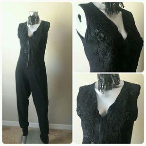 Pants - Vintage Jumpsuit with matching cardigan